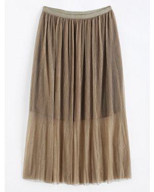 Плиссированная юбка макси пачка Zaful