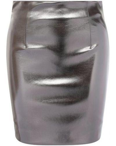 Серебряная юбка с подкладкой Nude