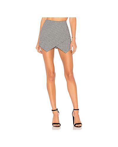 Юбка шорты асимметричная с молнией сзади Majorelle