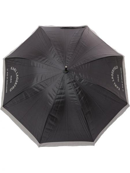 Зонт с принтом с логотипом Karl Lagerfeld