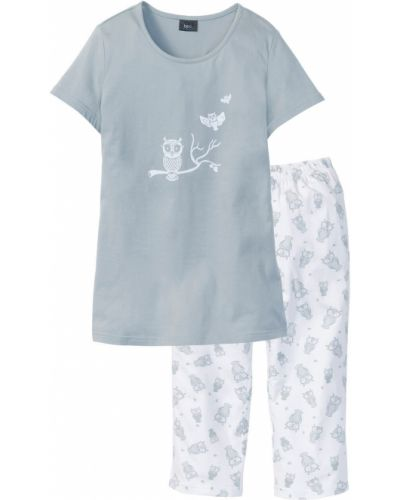 Пижама с брюками с короткими рукавами Bonprix