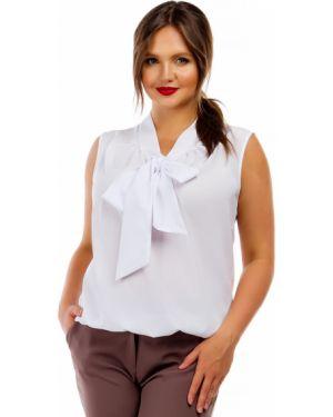 Блузка без рукавов с бантом на резинке Liza Fashion
