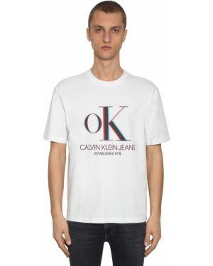 Biały t-shirt bawełniany Calvin Klein Established 1978