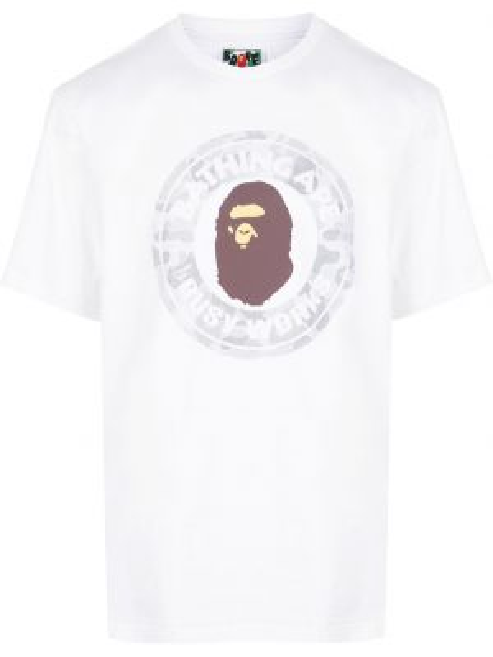 Koszula krótkie z krótkim rękawem biznes z nadrukiem Bape