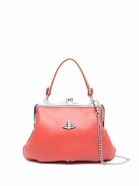 Кожаная сумка - оранжевая Vivienne Westwood