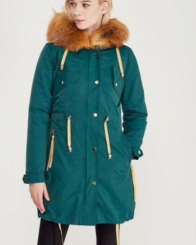 Утепленная куртка осенняя бирюзовый Grafinia