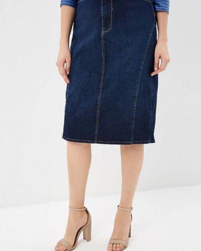 Юбка миди джинсовая синяя Fiorella Rubino