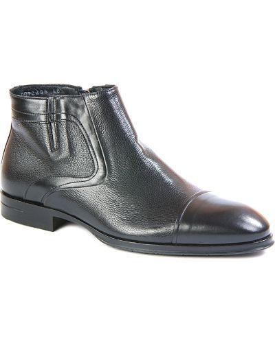 Ботинки осенние кожаные на каблуке Dino Bigioni