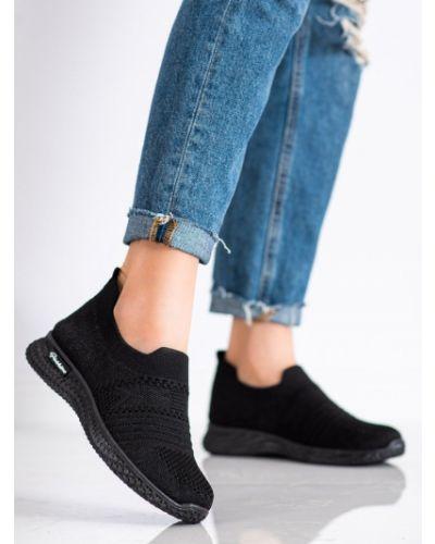 Czarne sneakersy na platformie Mckeylor