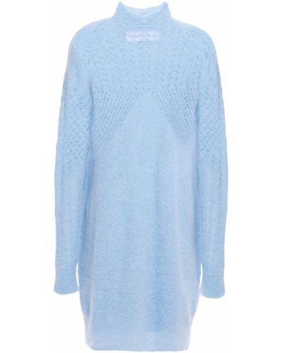 Niebieska sukienka prążkowana Carven
