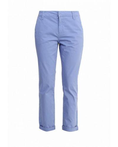 Синие брюки Oodji