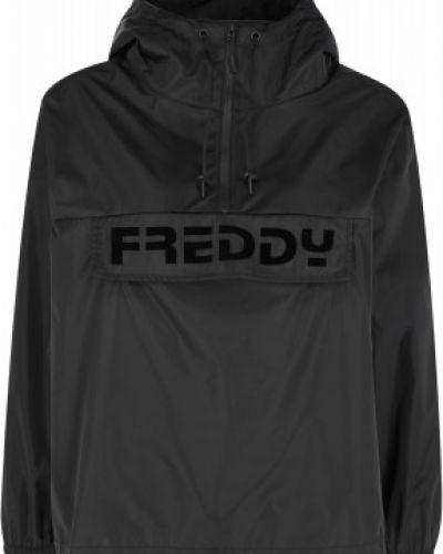 Ветровка с капюшоном - черная Freddy