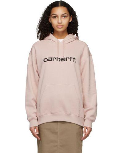 Czarny bawełna bawełna bluza z kapturem z kapturem Carhartt Work In Progress