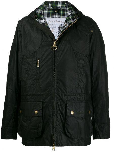 Długa kurtka z kapturem czarna Barbour