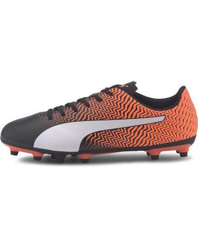 Черные футбольные бутсы на шнуровке Puma