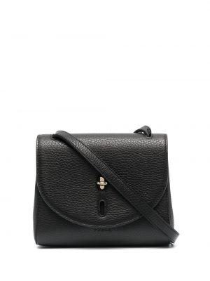 Кожаная черная сумка на плечо с карманами Furla