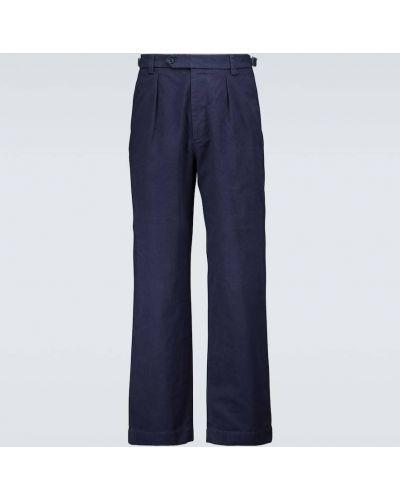 Bawełna bawełna niebieski spodnie Gucci
