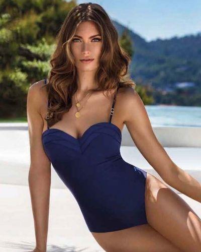 Слитный купальник с открытой спиной - синий Marc & Andre