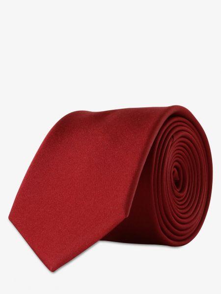 Czerwony krawat elegancki z jedwabiu Finshley & Harding