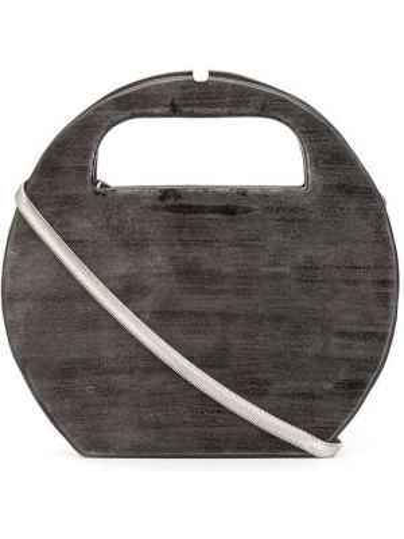 Коричневая сумка-тоут круглая Cecchi De Rossi