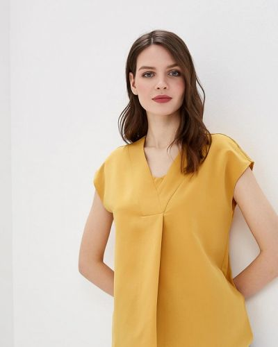 Блузка с коротким рукавом желтый весенний Sela