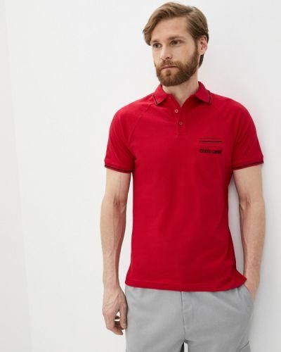 Красное поло с короткими рукавами Roberto Cavalli