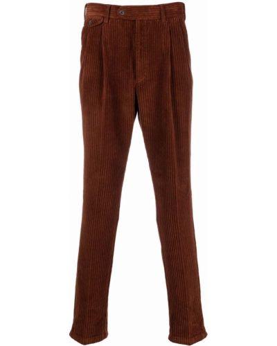 Brązowe spodnie sztruksowe Lardini
