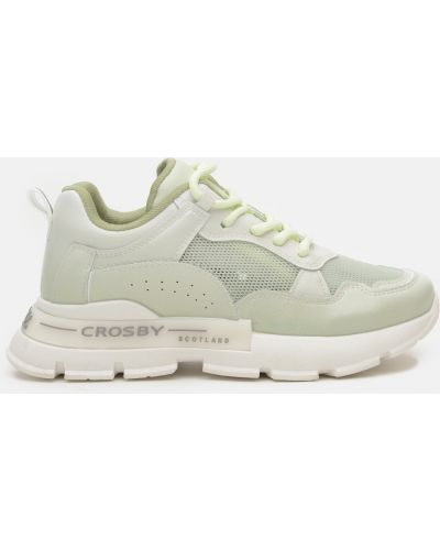 Деловые кроссовки - зеленые Crosby