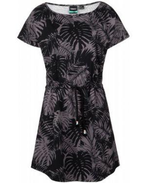 Хлопковое черное прямое спортивное пляжное платье Termit