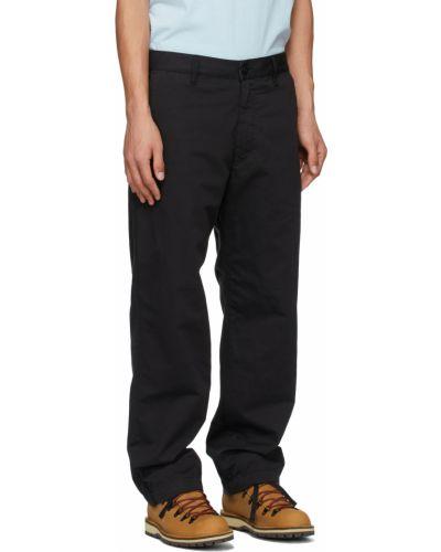 Czarne spodnie z paskiem bawełniane Stone Island Shadow Project