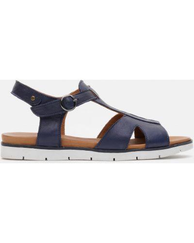 Кожаные сандалии - синие Plezuro