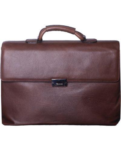 Кожаный портфель - коричневый Tigamaro