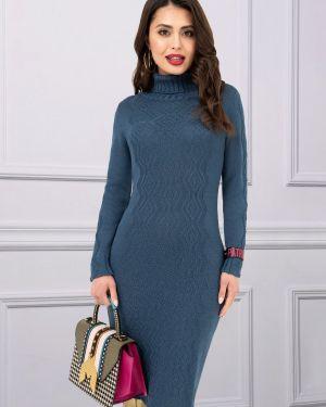 Джинсовое платье макси вязаное Charutti
