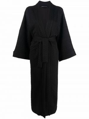 Черное пальто длинное Barbara Bologna