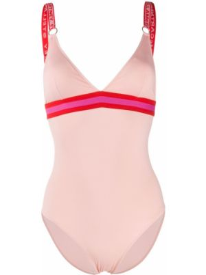 Плюшевый розовый пляжный слитный купальник Stella Mccartney