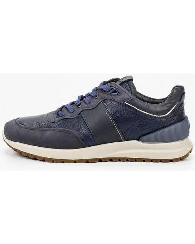 Синие кожаные кроссовки Ecco
