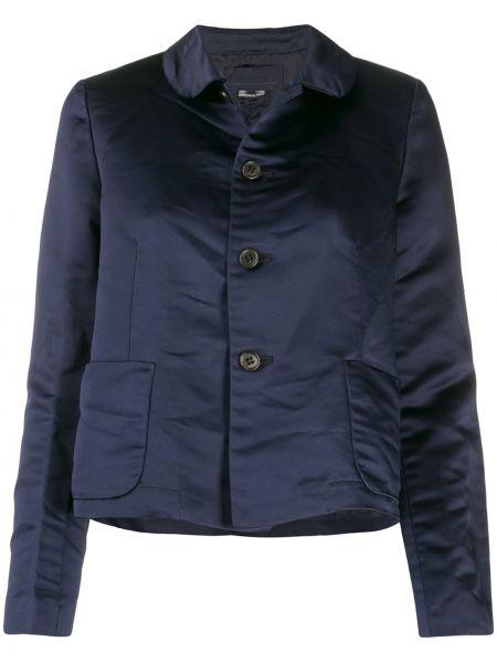 Синий пиджак с карманами с нашивками Comme Des Garçons Girl