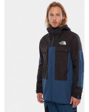 Куртка горнолыжная черная синяя The North Face