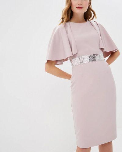 Вечернее платье осеннее розовый Zarina