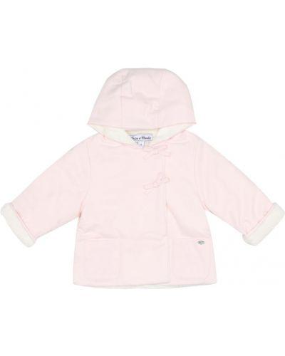 Розовое пальто из искусственного меха с подкладкой Tartine Et Chocolat