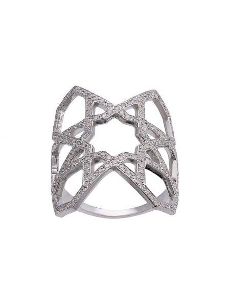 Pierścień ze srebra biały Ralph Masri