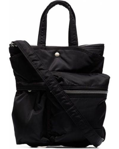 Czarna torba na ramię z nylonu Sacai
