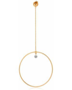 Żółte złote kolczyki ze złota z diamentem Persée