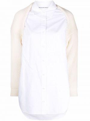 Белая хлопковая рубашка Alexanderwang.t