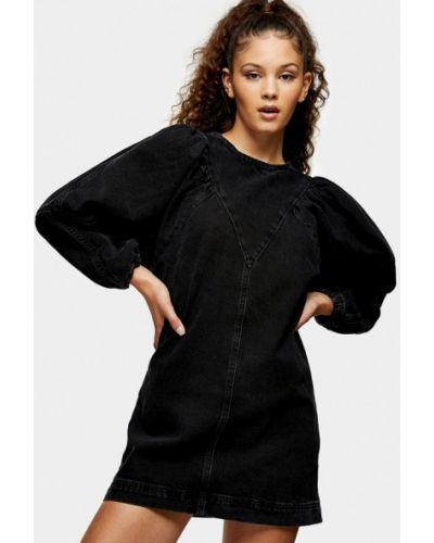 Прямое черное платье Topshop