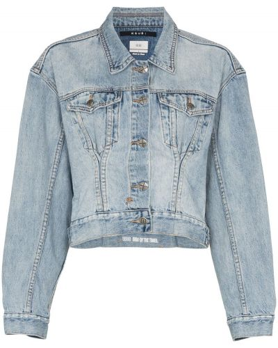 Синяя джинсовая куртка с вышивкой на пуговицах Ksubi