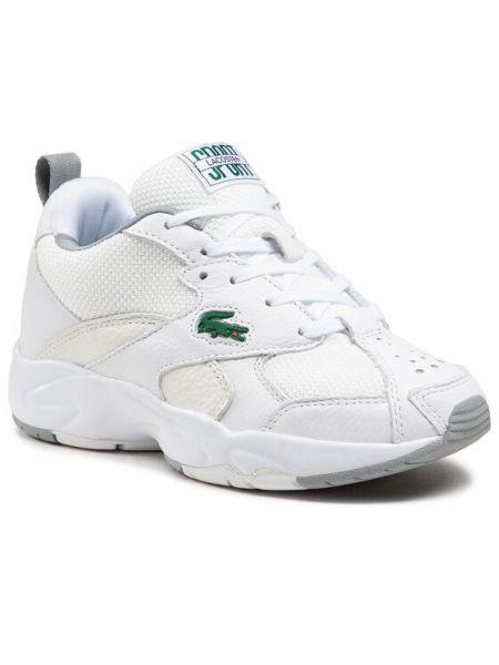 Białe sneakersy Lacoste