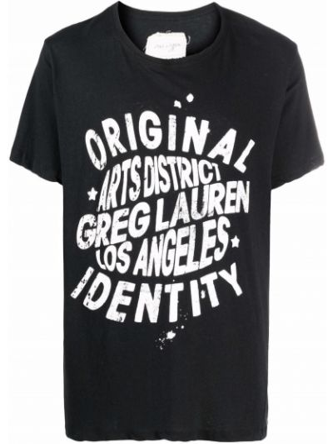 Черная футболка с короткими рукавами Greg Lauren