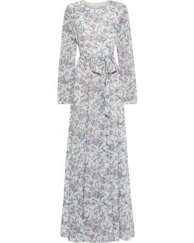 Текстильное белое платье макси на крючках Mikael Aghal