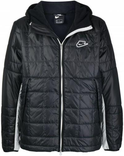 Черная длинная куртка с капюшоном с длинными рукавами Nike